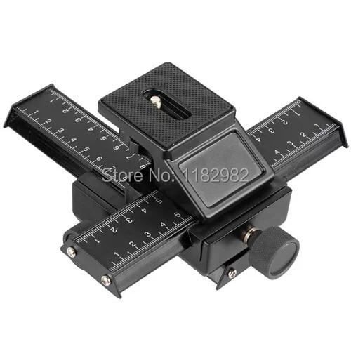 4 way Macro Shot Focusing Rail Slider 1/4Quick plate Tripod Stand Fo DSLR Free shipping worldwide +tracking number
