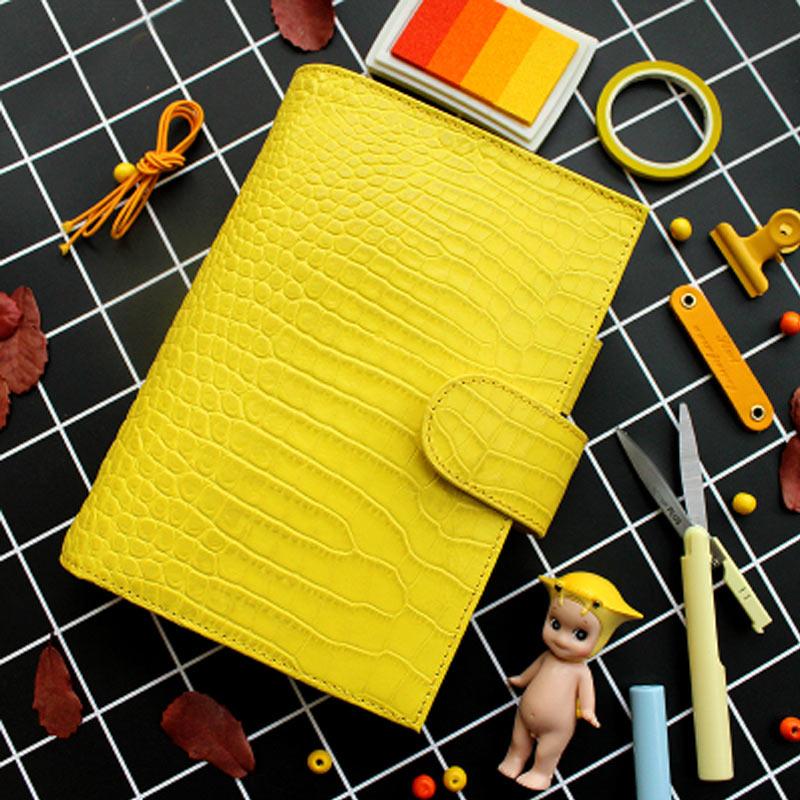 Genuine Leather Ring Binder Notebook A6 Handmade Personal Agenda Organizer Cowhide Diary Journal Sketchbook Planner Money