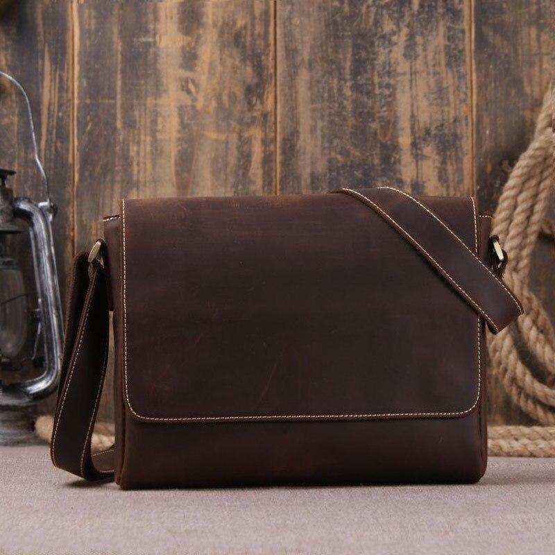 Кожа Для мужчин сумка Классическая сумка мессенджер Для мужчин мода натуральной кожи Для мужчин Портфели Бизнес Повседневное Курьерские с
