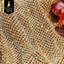 Crystal Castle Rhinestones For Fabric SS8.5 SS9 Strass With Mesh Crystal Mesh Textile Tassel Trim Non Hotfix Rhinestones Sheet