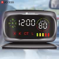 Ruccess Car Radar Detectors 2 In 1 Police Speed GPS For Russian LED Display 360 Degree