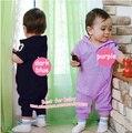 Розничная Romper Младенца Младенческой Ползунки Поло Комбинезон в Шляпе Толстовка ползунки Марка Baby Girl Boy Одежда 7 цвет