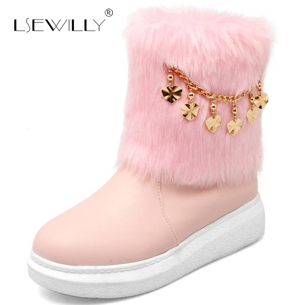 95668cea5fb0 Chaud De Beige 43 Lsewilly E112 Neige 2018 Femme 31 Fourrure Grande  Cheville Russie Bottes Rose D hiver rose Taille ...