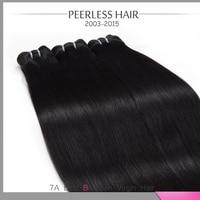 7A Brazilian Virgin Hair Peerless Hair Products Silky Straight No Shedding 3Pcs Lot 12 To 28 Hu-man Vir-gin Hair Extension Weave