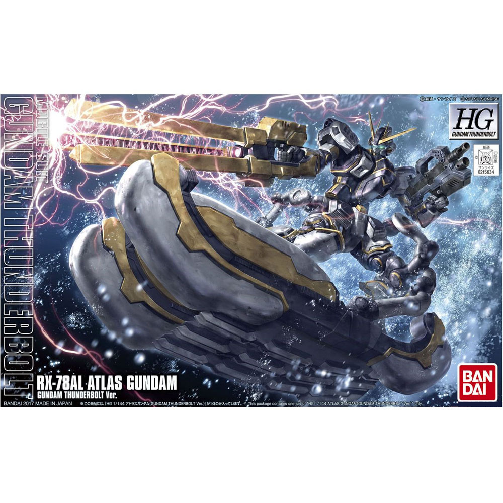 OHS Bandai HG Thunderbolt 12 1/144 RX-78AL Atlas Gundam Mobile Suit Assembly Model Kits bandai bandai gundam model sd q version bb 309 sangokuden wu yong bian xiahou yuan battle