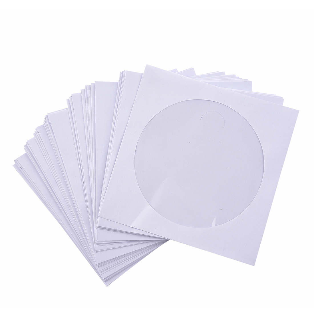 50 X 5 Inch CD DVD Pockets Flap Cover Envelopes