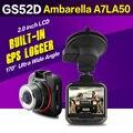 Ambarella A7LA50 GPS Car DVR GS52D G52D Mini Car Camera Full HD 1296P 170 Degrees Wide Angle with G-Sensor ADAS GPS Dash Cam