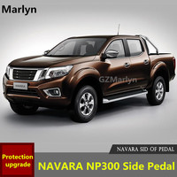 Running Board Side Step Bar Foot Plate For NP300 Navara 2016 2017 Aluminum Alloy Convenient For