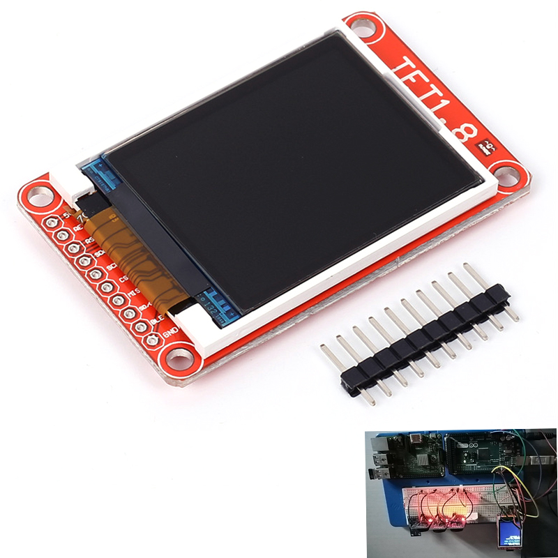 1.8 1.8 Inch TFT LCD Screen ST7735 128x160 Support Micro SD Card 3.3V 5V 128*160 for Arduino Micro SD 128 128x160 tft