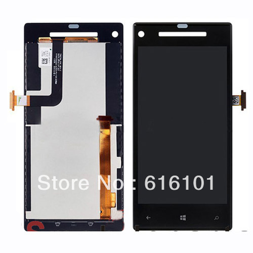 High quality Brand new  LCD Display Touch Screen Digitizer Full Assembly for HTC 8X  1pc/lot  Free shipping high quality full new lcd display touch