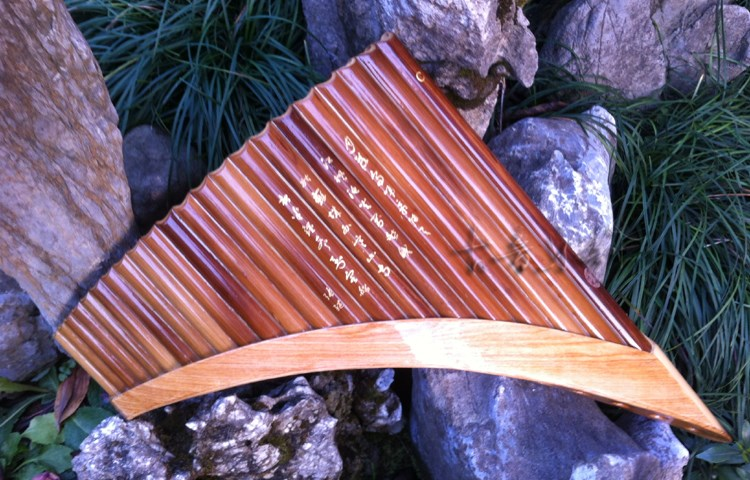 22 Pipes Professional Bamboo PanFlute Curved Handmade Panpipes Flauta Xiao Woodwind font b Musical b font