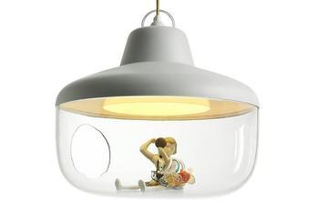 Luminaire Design Art Pendentif LED Lumière Rétro Bar Restaurant Lumières Nord Europe Restaurant Américain PVC Suspension