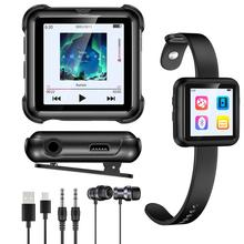 Qosea Wristband MP3 Player Bluetooth Lossless 8GB Running Clip HiFi Music Portable Metal Audio Digital E-Book