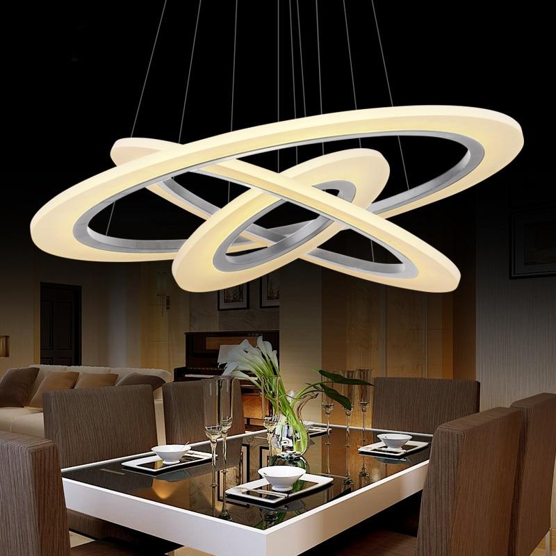 Modern led pendant lights for dining living room cerchio anello lampadario Acrylic 3/2/1 rings circles modern led pendant lamp