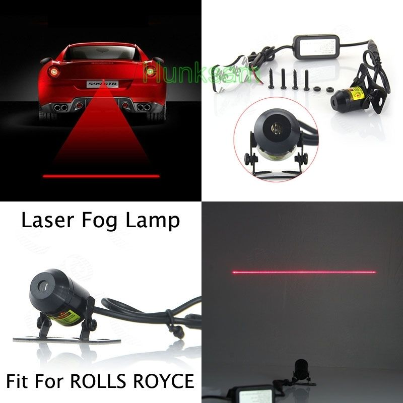 Auto Rear Anti-Collision Alarm Laser Fog Light Tail Warning Lamp For ROLLS ROYCE for chevy chevrolet lacetti matiz automotive anti rear fog light vehicle collision warning safety laser fog lights