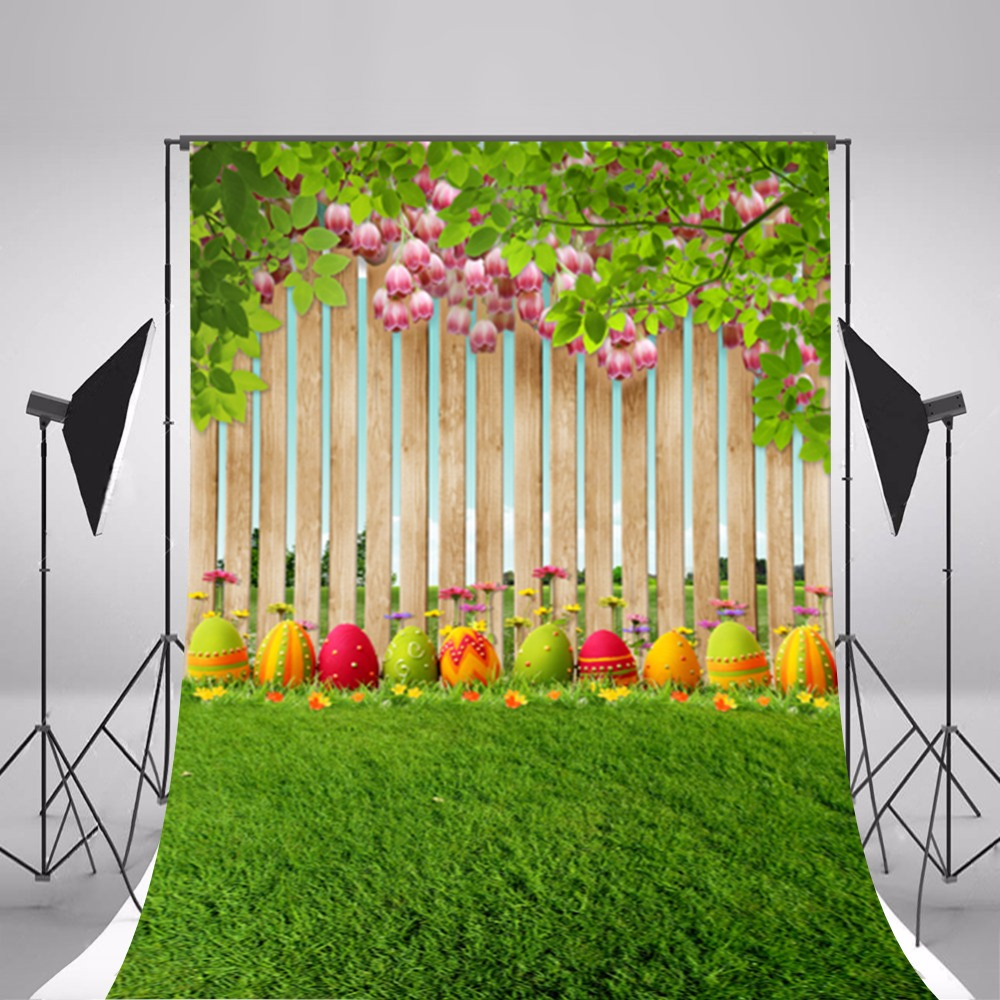 Happy Easter Eggs Photographic Backgrounds Vinyl Photo Backdrops Baby Backgrounds For Photo Studio Photography Props Easter family photo background easter day flowers vases photography backdrops for photo studio vinyl printing photographic backgrounds