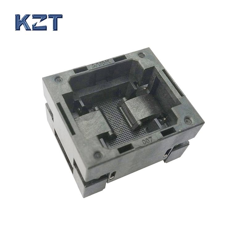 BGA81 OPEN TOP Burn in socket pitch 1.0mm IC size 14*18mm BGA81(14*18)-1.0-TP02/50N BGA81 VFBGA81 burn in programmer socket bga81 open top burn in socket pitch 1 0mm ic size 14 18mm bga81 14 18 1 0 tp02 50n bga81 vfbga81 burn in programmer socket