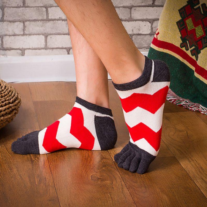 Mans footwear Men Breathable Toe Socks Five Finger Socks Pure Mesh Fingers Socks