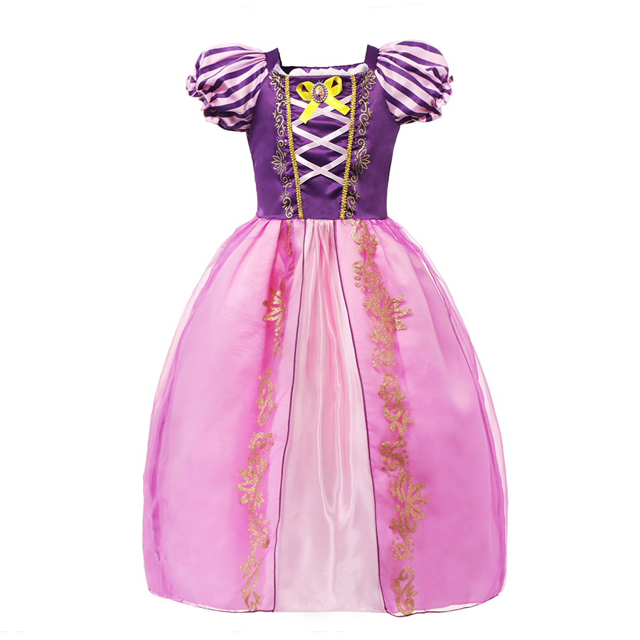 цена на Girls Summer Dresses Kids Cindrella Snow White Cosplay Costume Princess Rapunzel Aurora Belle Sleeping Beauty Sofia Party Dress