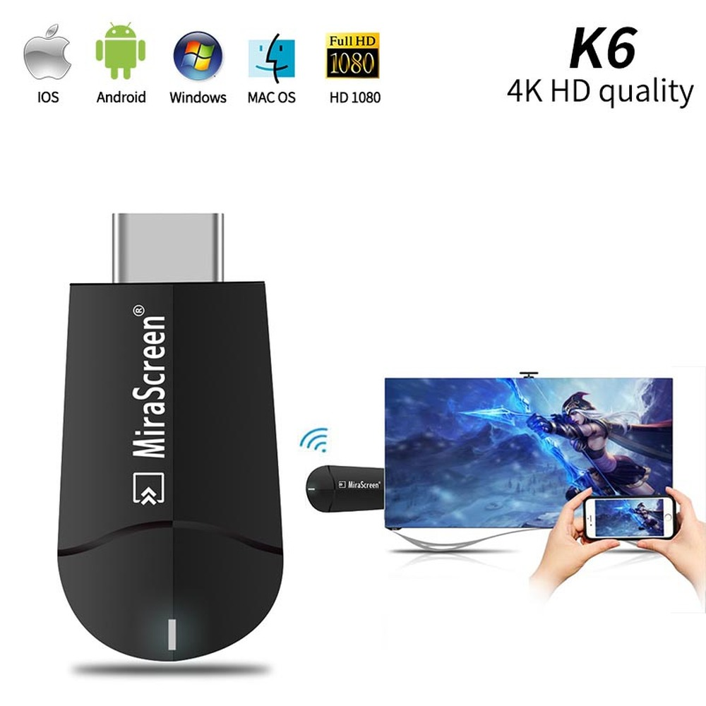 MiraScreen G5 4K HD Wireless WiFi Display HDMI Dongle Receiver 1080P HD TV Stick Miracast Airplay Mirroring to HDTV Projector