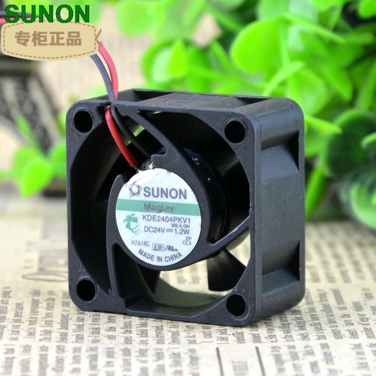 Sunon maglev fan kde2404pkv1 4020 4 cm 24 v 1.2 w ventilador de refrigeração axial da fonte de alimentação