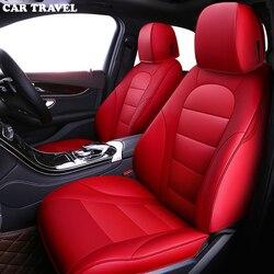 AUTO di VIAGGIO in pelle Personalizzati copertura di sede dell'automobile per mitsubishi pajero 4 2 sport outlander xl accessori asx lancer seggiolini auto protezione