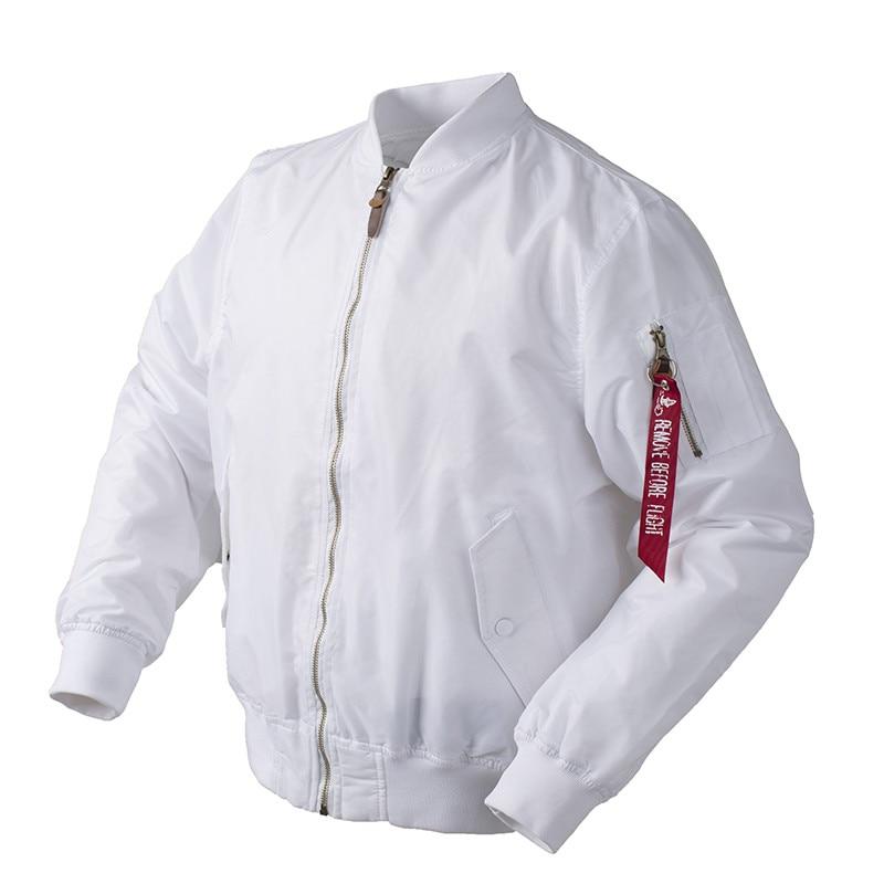 2018 Autumn Thin White Ma1 Bomber Flight Rain Windbreaker Waterproof Varsity Letterman Air Force Baseball Jacket For Men/women