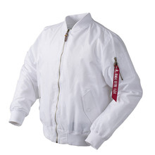 2020 Autumn Thin White Ma1 bomber flight rain windbreaker waterproof varsity letterman air force baseball jacket for men/women