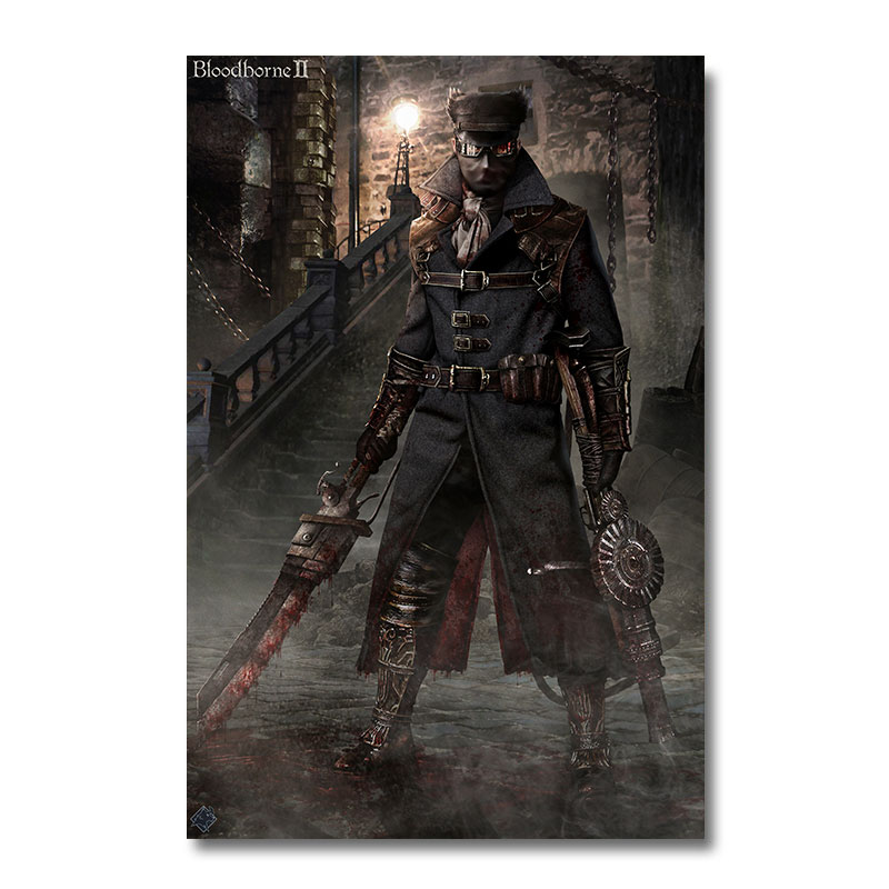 12 X 18 Living Room Ideas: Bloodborne Game Silk Fabric Poster Wall Art Print Painting