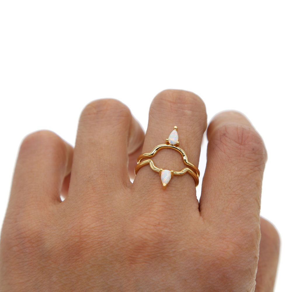 ring wedding il rings boho listing bohemian fullxfull band rustic dainty thin gold