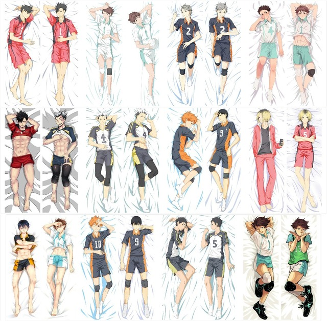 New Haikyuu Japanese Anime Hugging Body Pillow Cover Case Decorative Pillows