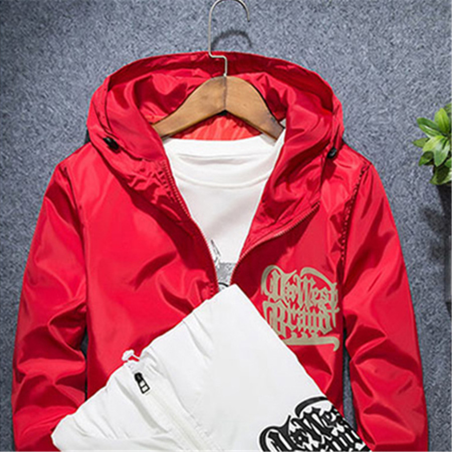 6a8e60604ea7a Plus Size Jacket Men Casual Hooded Windbreaker Jacket Dresses Of The Big  Sizes Crook Raf Simons Men s Windbreakers 50C0061-in Jackets from Men s  Clothing on ...