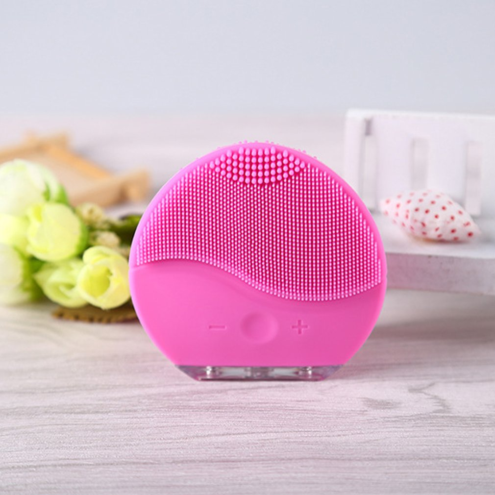 Ultrasonic Electric Facial Cleansing Face Washing Brush Vibration Skin Blackhead Remover Pore Cleaner Massage USB Rechargeable 2