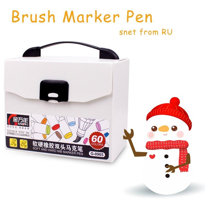 Pinceau marqueur stylo Set Art peinture-pinceau pointe teinté beaux écrivains Art tissu stylos professionnel pour Arts croquis coloriage livres