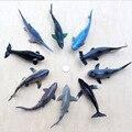 5 unids Simulación de tiburones juguete animal Marino traje modelo de plástico ecológico y seguro para niños Azul Gris