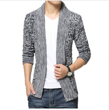 Men's Spring 2017 male personality cardigan sweater cardigan sweater Slim
