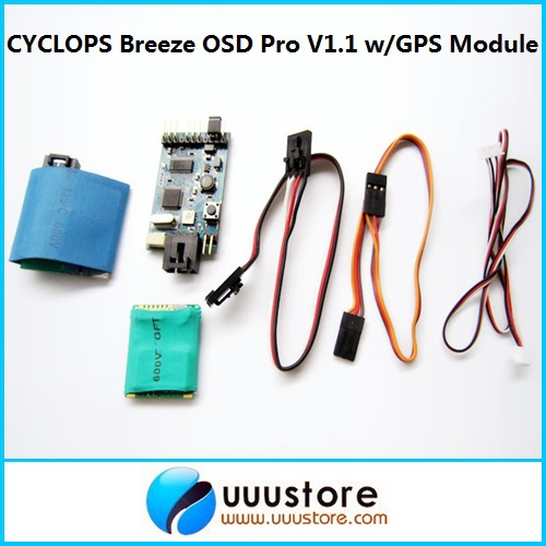 CYCLOPS Breeze OSD Pro V1.1 w/GPS Module for FPV Aerial Photography aat convert module for other brand osd the newest skylark automatic aerial conversion antenna tracking cooperate with use new