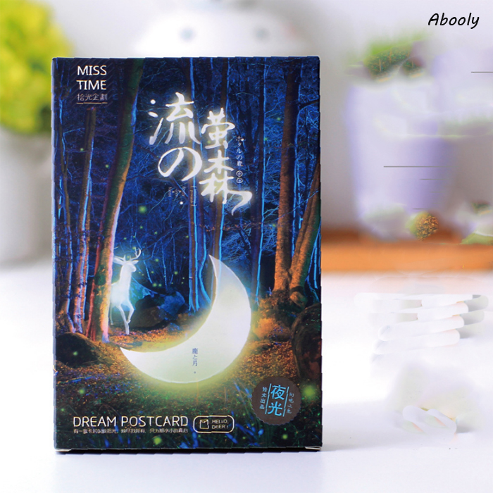 30Pcs/Pack Kawaii Vintage Luminous Card Marine Animals Postcard Landscape Greeting Card Christmas Card Message Gift наковальня aist 67917515