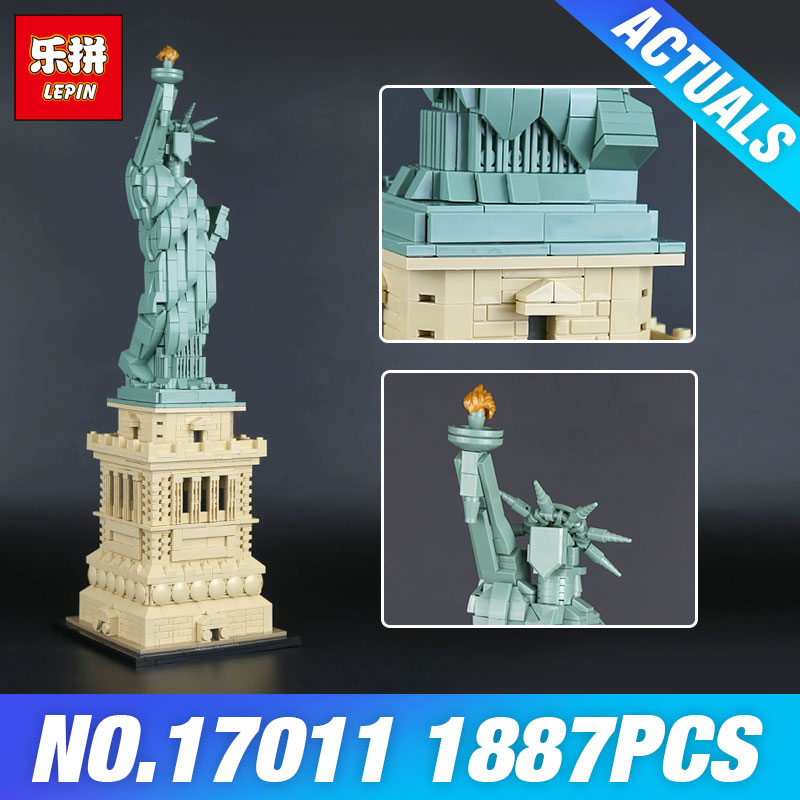 Lepin 17011 Toys Architecture Series The 21042 State of Liberty Set Toys Model Building Blocks Bricks Kits DIY Children Gifts