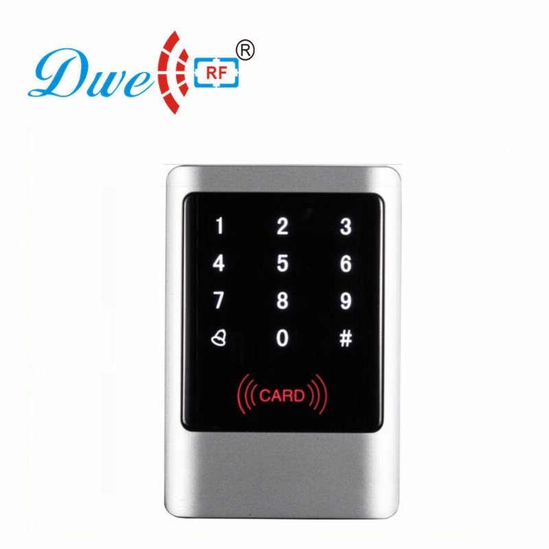 Free shipping 13.56mhz metal rfid door rf password keypad touch rfid standalone access control controller system 1000 users good quality metal access controller face waterproof rfid lock system 1000 users standalone rfid card password access control
