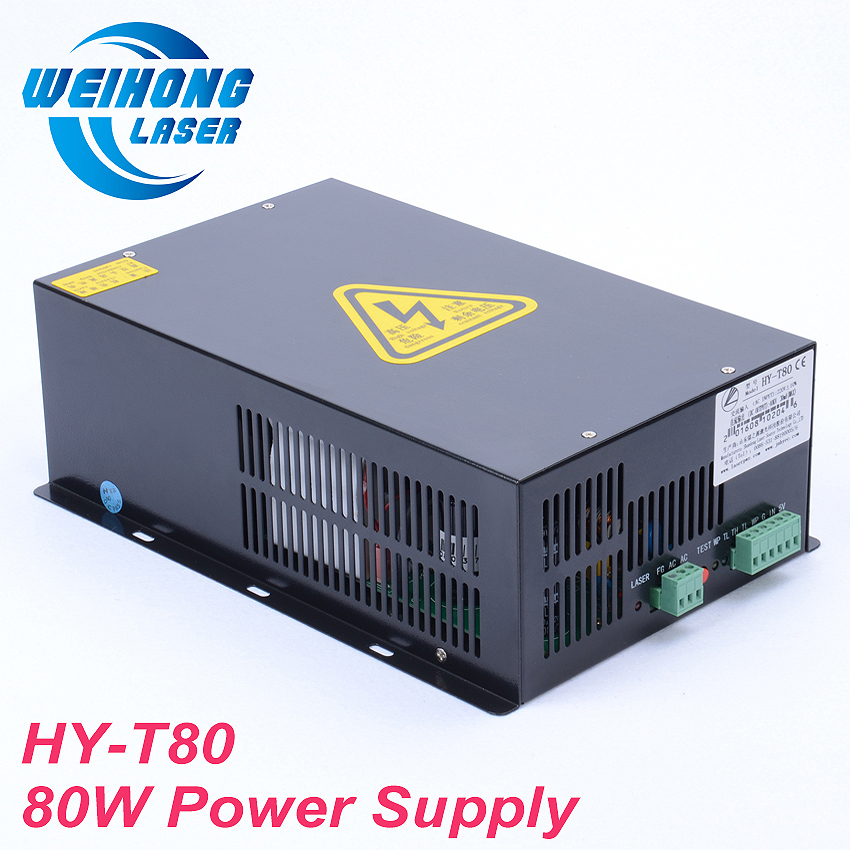 HY-T80 80W Co2 Laser Power Supply AC110V/220V for Co2 Laser Engraving and Cutting Machine high voltage flyback transformer hy a 2 use for co2 laser power supply