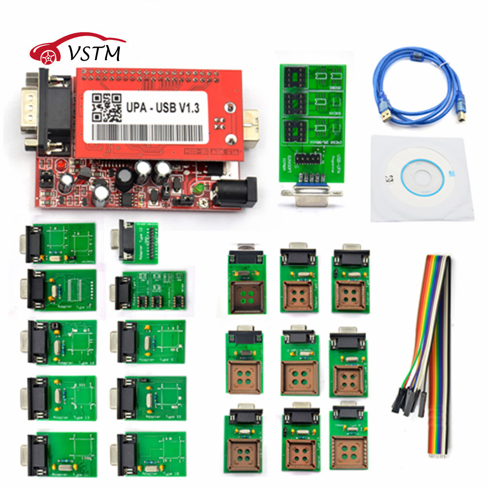 2018 New UPA USB Programmer V1.3 For Version Main Unit For Sale UPA USB Adapter ECU Chip Tunning UPA-USB UPA USB 1.3 With Best