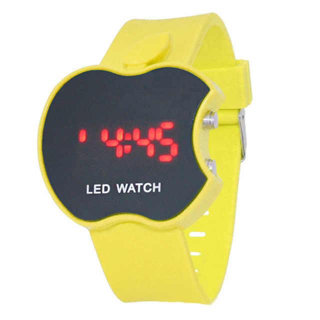 2020 جديد لينة سيليكون ساعة رياضية النساء سلسلة معصمه LED ساعة سوار الإلكترونية كاندي الألوان موضة العلامة التجارية ساعات المعصم