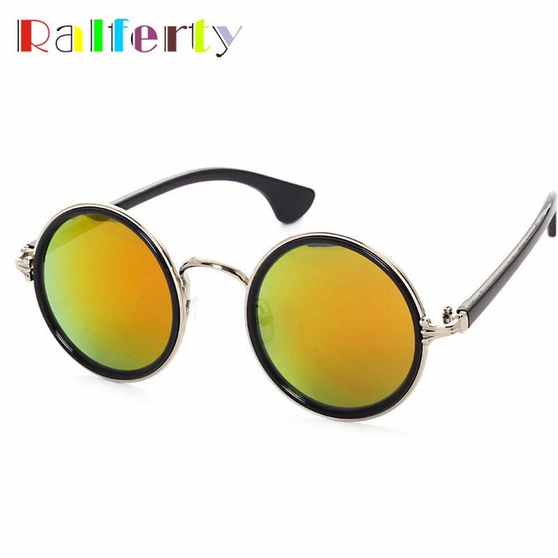 Ralferty Vintage Retro Rodada Óculos De Sol Das Mulheres Dos Homens Óculos  de Sol Espelhados UV400 Oculos Espelhado Steampunk oculos de sol feminino 60807769be