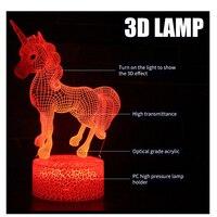 Единорог, лошадь дети игрушки светится в темноте флуоресцентный подарки на день рождения детей люминисцентный ночной свет