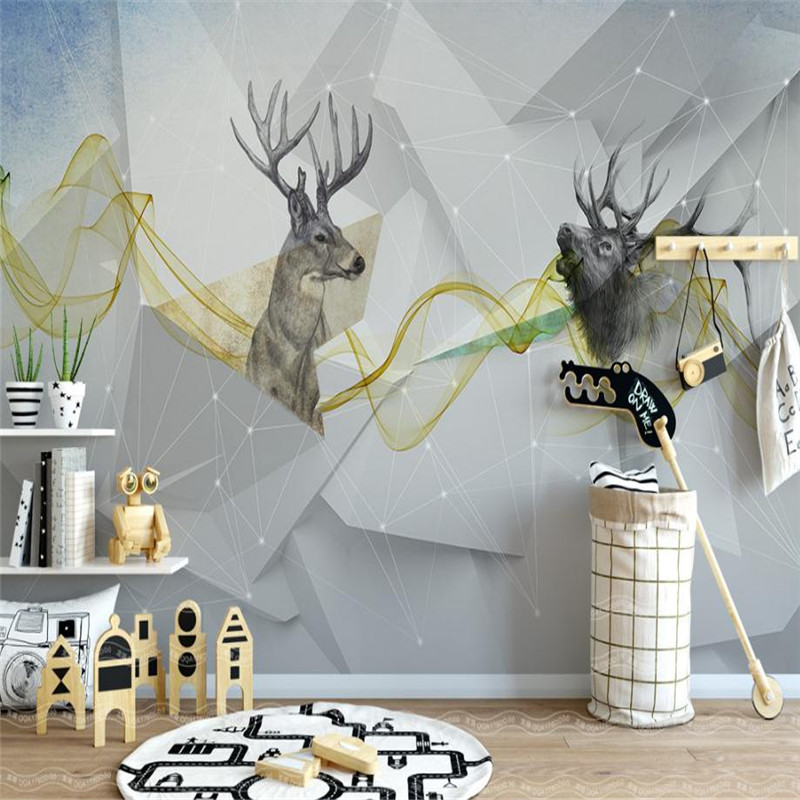 Large Modern Wallpaper 3D Custom Background Wallpaper