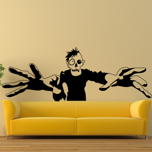 Zombie Wall Sticker Halloween Zombie Art Wall Decal Room
