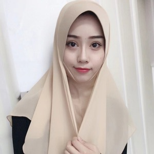Image 4 - イスラム教徒の女性のhijabsファッションシフォンヒジャーブ/スカーフ/キャップフルカバーインナーイスラムヘッド磨耗帽子underscarf便利な
