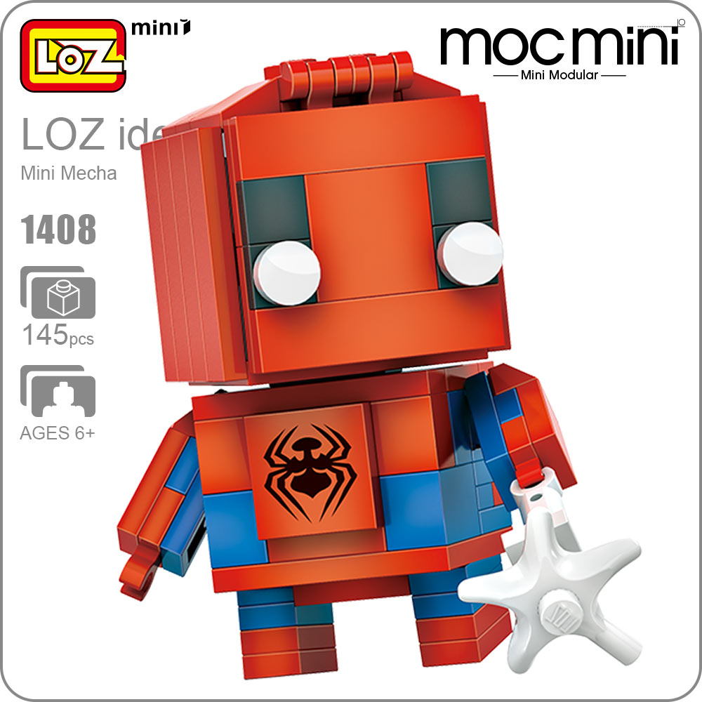 LOZ ideas Mini Toys Action Figure Amazing Toys For Children Building Blocks DIY Super Heroes Fun Educational Toys Kids Gift 1408 loz diamond blocks dans blocks iblock fun building bricks movie alien figure action toys for children assembly model 9461 9462