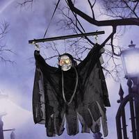 Halloween Linen Ghosts Electric Induction Ghosts Horror Prop Haunted House Hanging Grim Reaper Horror Home Door Bar Club Decor